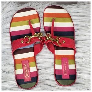 Coach Rikki Jelly Flip Flop Sandals Size 7.5M